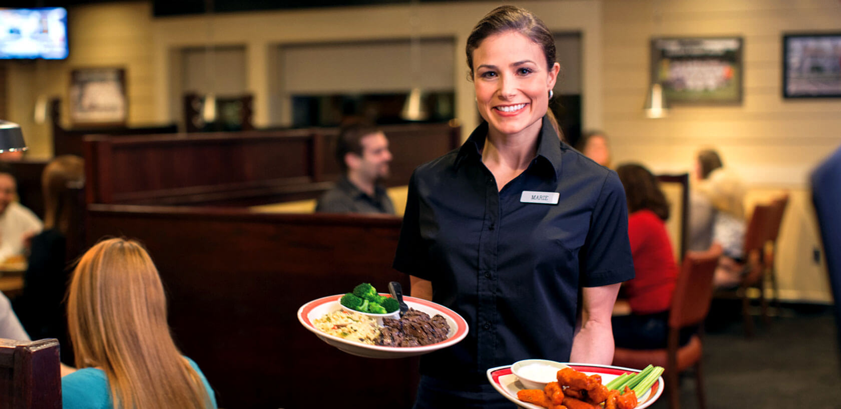 Photo of server at 99 Restaurants